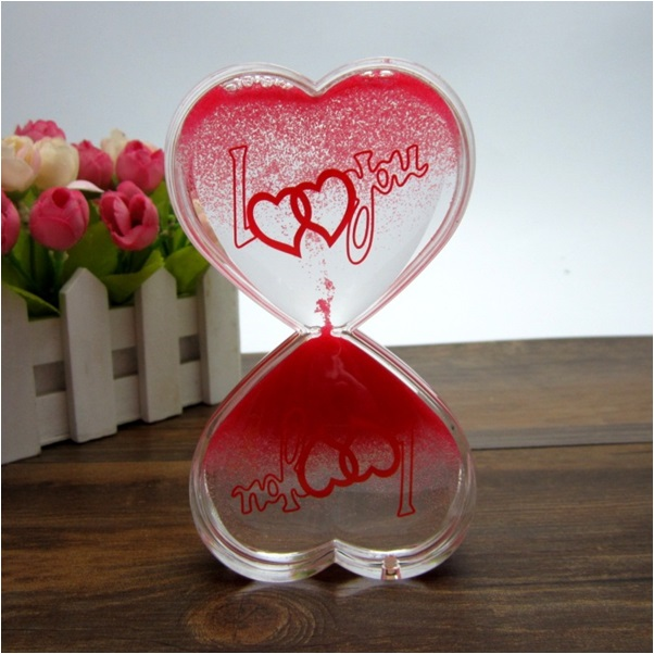 Kalp Şeklinde Aşk Kum Saati