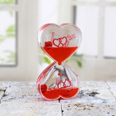 - Kalp Şeklinde Aşk Kum Saati