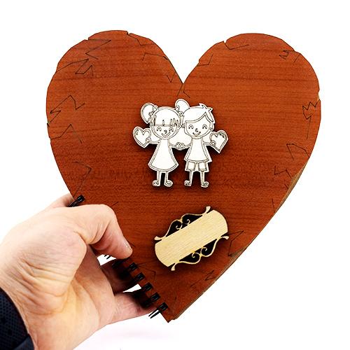 Kalp Şeklinde Sevgili Defteri