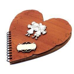 Kalp Şeklinde Sevgili Defteri - Thumbnail