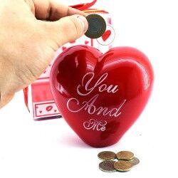 - Kalp Şeklinde Sevgili Kumbarası