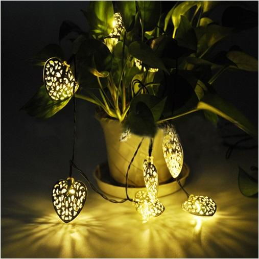 Kalp Şeklinde Solar Dekor LED Lambalar 12′li