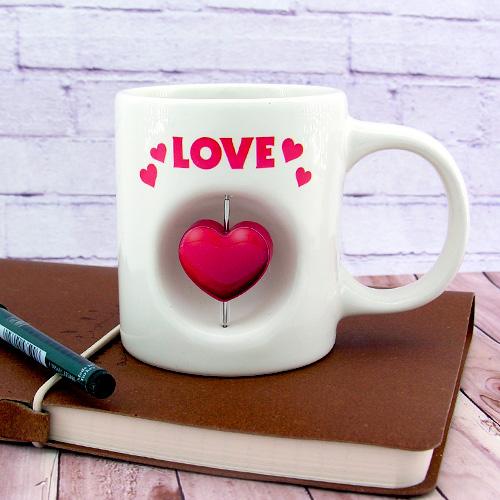Kalp Simgeli Love Kupa Bardak