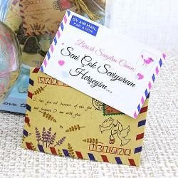 Kalp Şişede Sevgiliye Sürpriz Mektup - Thumbnail