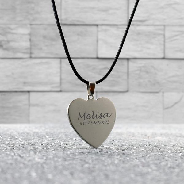 Kalp Tasarımlı İsme Özel Metal Kolye