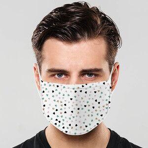 - Kalp Yağmuru Tasarım Yıkanabilir Maske