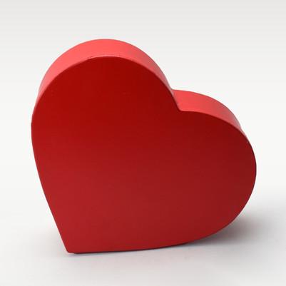 Kalp Şeklinde Kırmızı Hediye Kutuları - Thumbnail