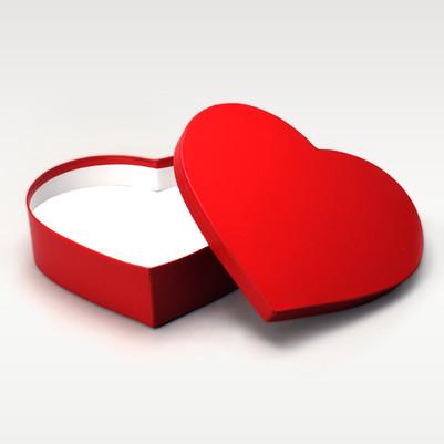 - Kalp Şeklinde Kırmızı Hediye Kutuları