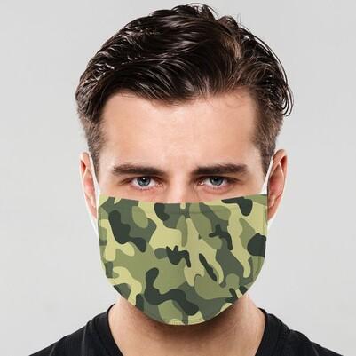 - Kamuflaj Desenli Yıkanabilir Ağız Maskesi