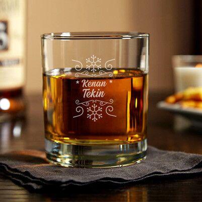 - Kar Tanesi Kişiye Özel Viski Bardağı