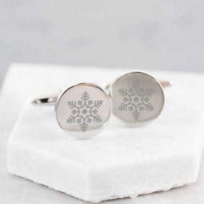 Kar Tanesi Temalı Kol Düğmeleri - Thumbnail