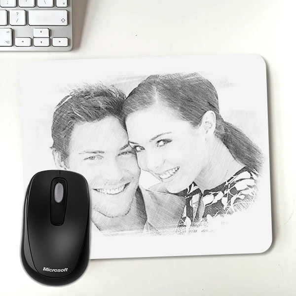 Kara Kalem Resim Efektli Mousepad