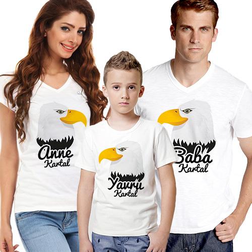 Kara Kartal Ailesi 3'lü Tişört Seti