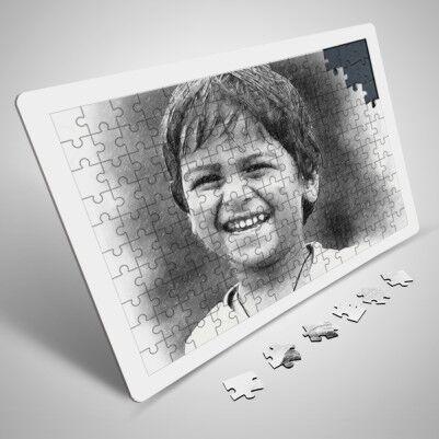 - Karakalem Efektli 130 Parça Puzzle