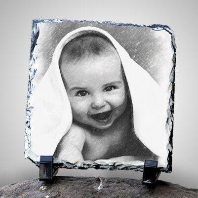 - Karakalem Portre Efektli Dekoratif Taş