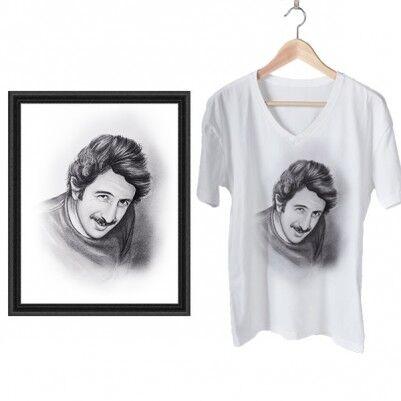 - Karakalem Resim ve Baskılı Tişört