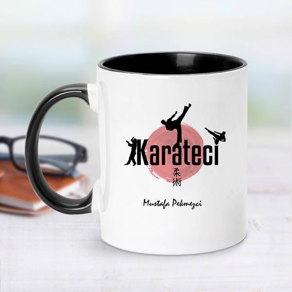 Karateci İçin Siyah Kupa Bardak