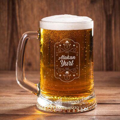 - Kardan Adam İsme Özel Bira Bardağı