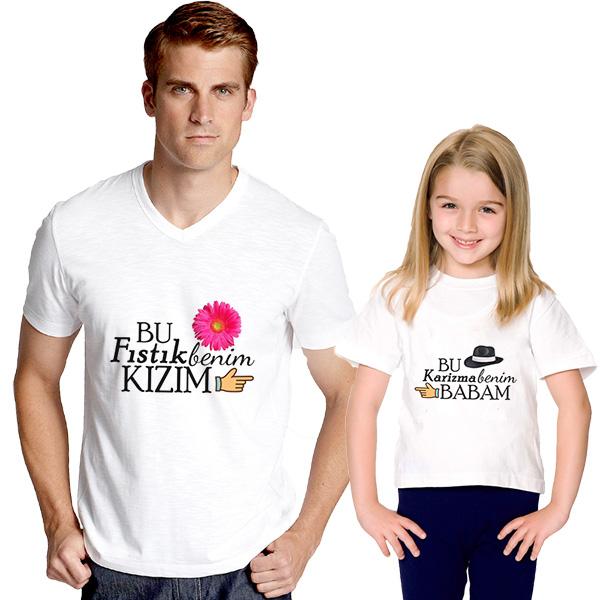 Karizma Baba Fıstık Kız 2'li Tişörtleri