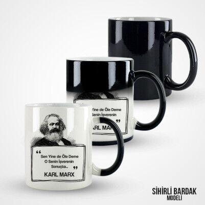 Karl Marx Esprili Kahve Kupası - Thumbnail