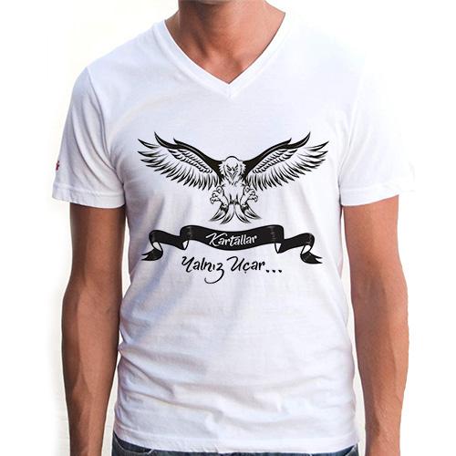 Kartallar Yalnız Uçar Erkek Tişörtü