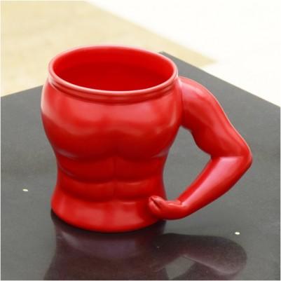 - Kaslı Vücut Porselen Kupa