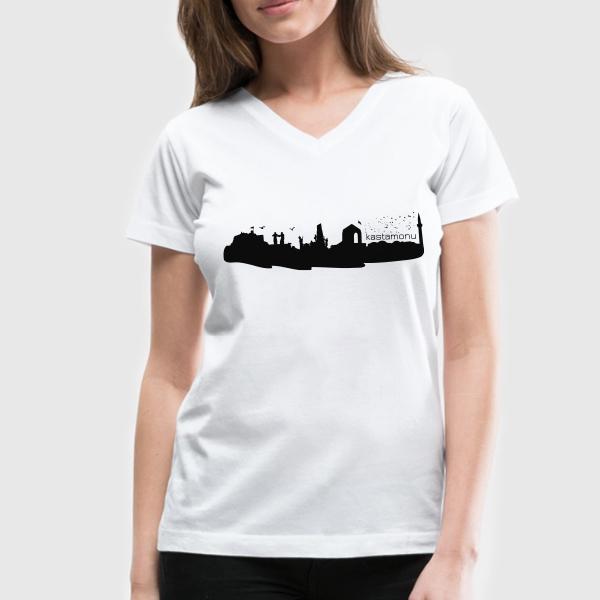 Kastamonu Temalı Şehir Silueti Tişört
