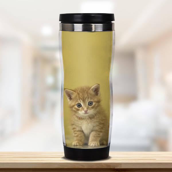 Kedi Temalı Termos Bardak