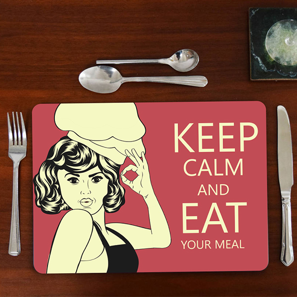Keep Calm and Eat Your Meal Amerikan Servisi