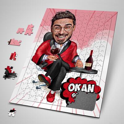 - Keyfine Düşkün Adam Karikatürlü Puzzle