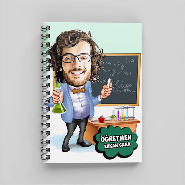 Kimya Öğretmeni Karikatürlü Defter