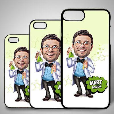 - Kimyager Karikatürlü Iphone Kapak