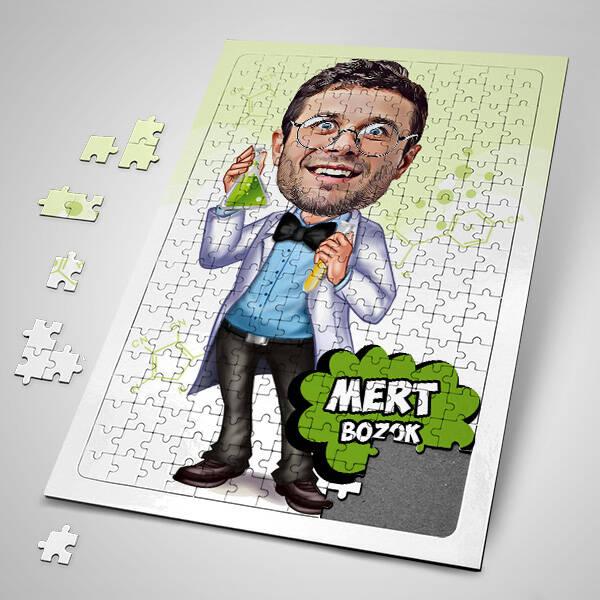 Kimyager Karikatürlü Puzzle