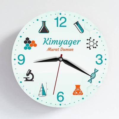 - Kimyagere Hediye Duvar Saati
