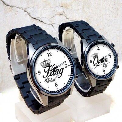 - King And Queen İsme Özel Çift Saatleri