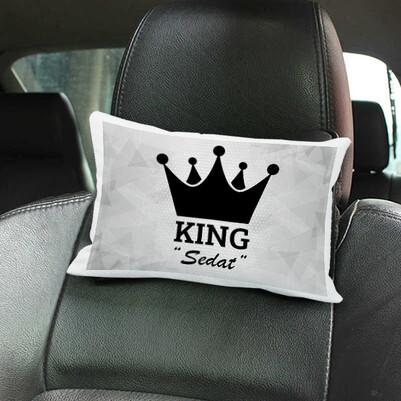 - KING İsme Özel Koltuk Yastığı