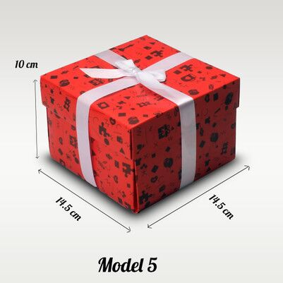 Kırmızı Karton Hediye Kutuları - Thumbnail