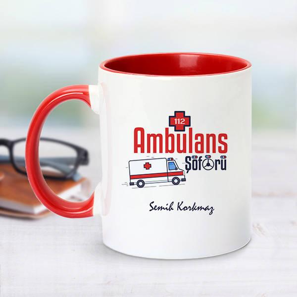 Kırmızı Kupa Bardak Ambulans Şoförlerine Özel