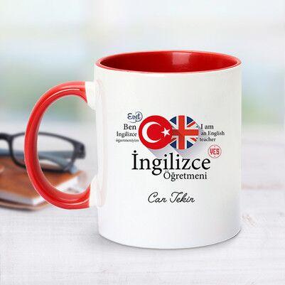 - Kırmızı Kupa Bardak İngilizce Öğretmenlerine Özel