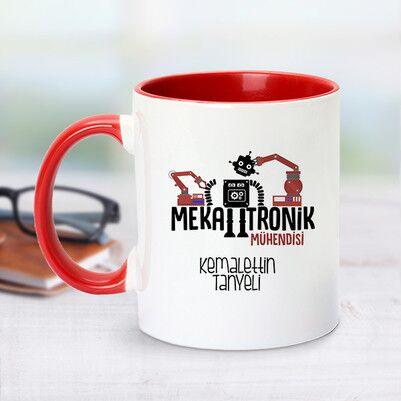 - Kırmızı Kupa Bardak Mekatronik Mühendislerine Özel
