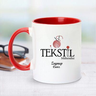 - Kırmızı Kupa Bardak Tekstil Mühendislerine Özel