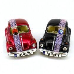 Kırmızı ve Siyah 2'li Vosvos Oyuncak Araba - Thumbnail