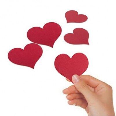 - Kırmızı Kalp Mesaj Kağıtları