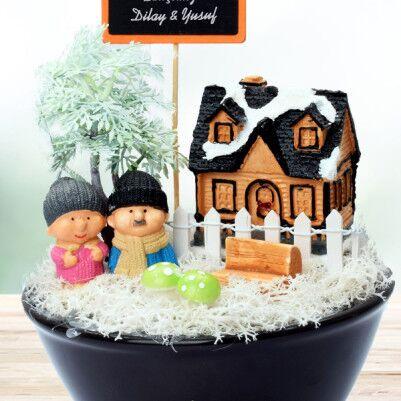 Kış Temalı Sevgililere Özel Minyatür Bahçe - Thumbnail