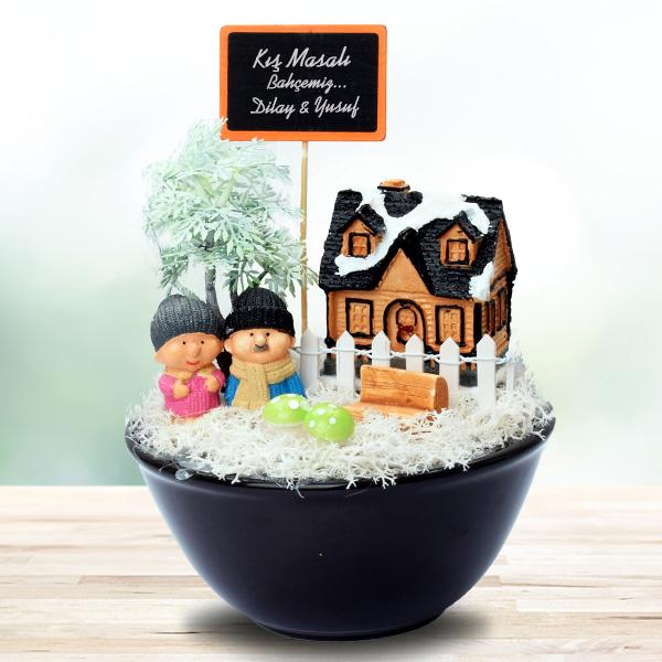 Kış Temalı Sevgililere Özel Minyatür Bahçe