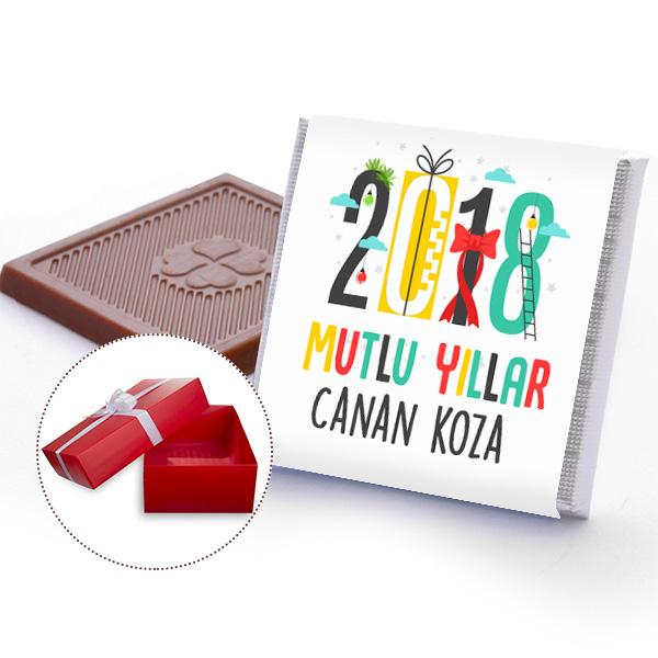 Kişiye Özel 2018 Yılbaşı Çikolataları