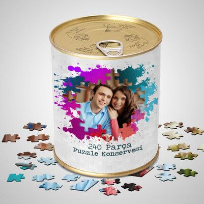 - Kişiye Özel 240 Parça Puzzle Konservesi