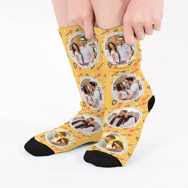 Kişiye Özel 4 Fotoğraflı Çorap