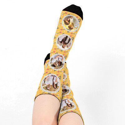 Kişiye Özel 4 Fotoğraflı Çorap - Thumbnail