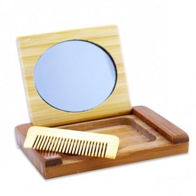 Kişiye Özel Ahşap Ayna ve Tarak Seti - Thumbnail